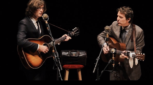 The Milk Carton Kids, performing live at Lincoln Theater in Columbus, Ohio.
