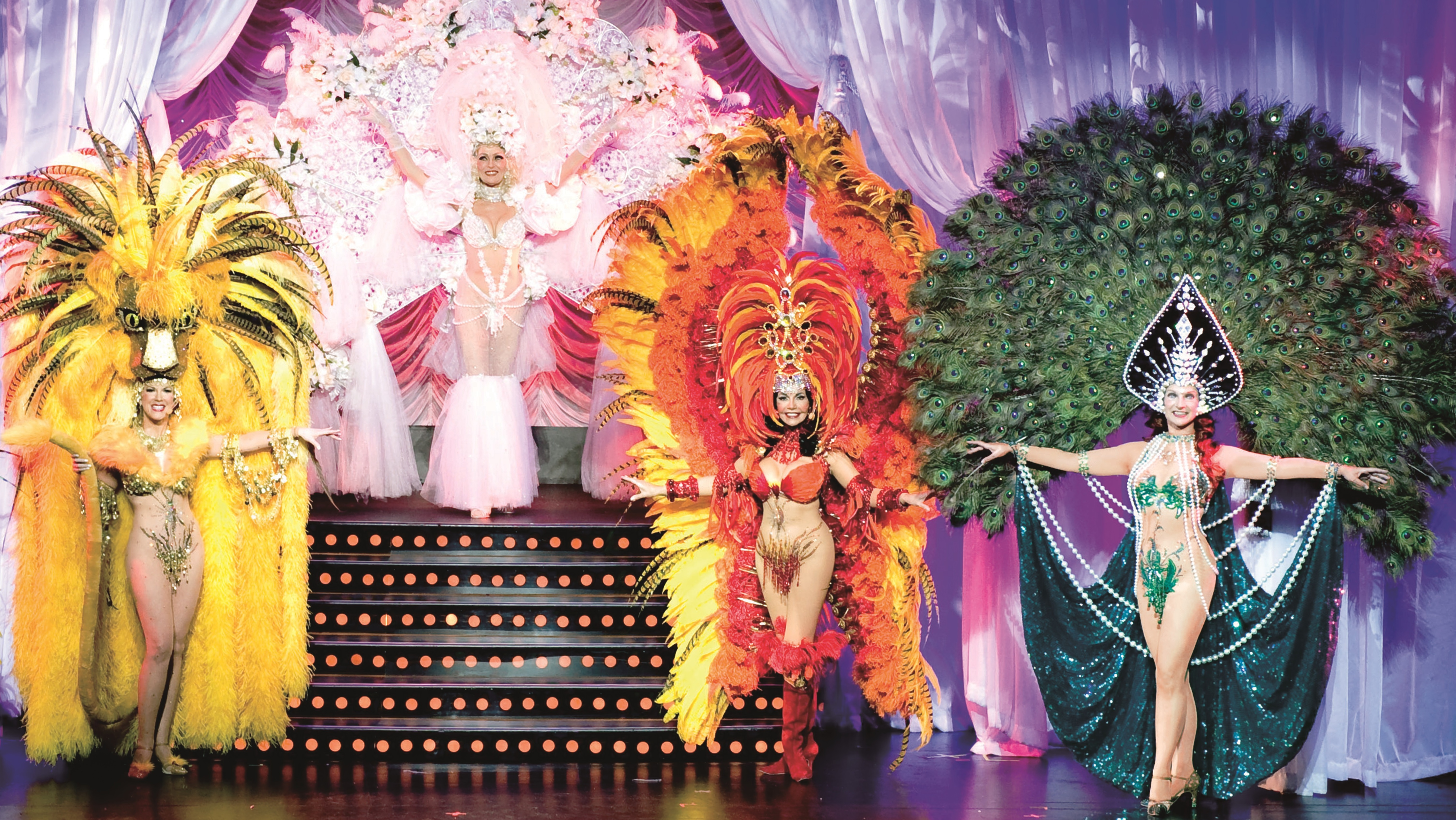 """Each season during the Follies' """"Pretty Girl"""" number, dancers introduce themselves to the audience while wearing extraordinary costumes, and prove that age is just a number."""