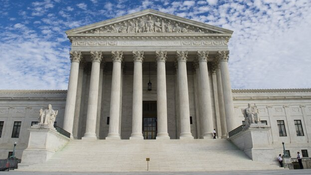 An economic model is being challenged in the Supreme Court on Tuesday in a battle between broadcast television networks and the startup Aereo Inc. The issues focus on copyright law, but the outcome could alter broadcasting in the U.S. (AFP/Getty Images)