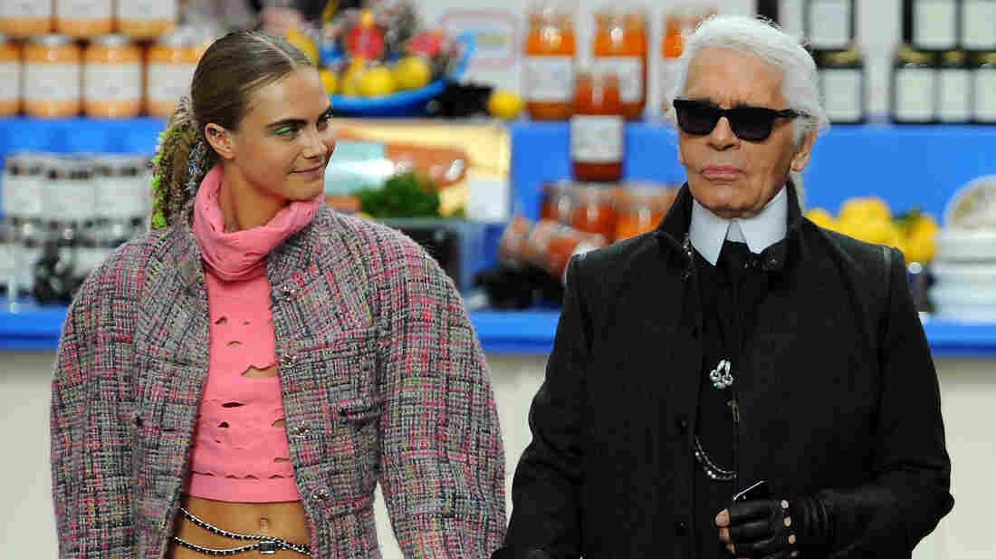 Karl Lagerfeld, the creative director of Chanel.