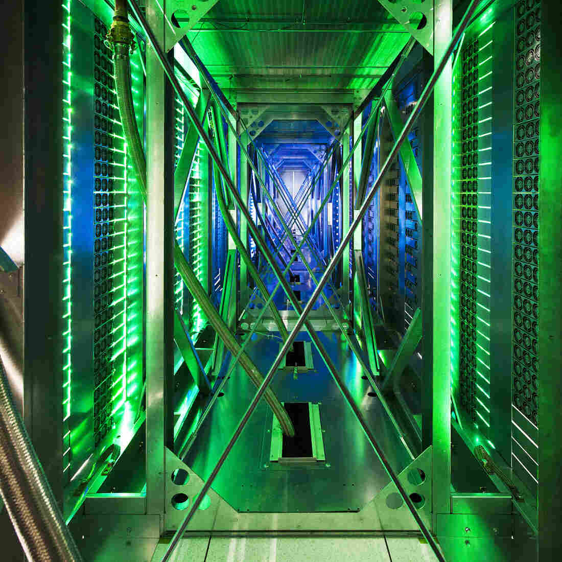 A Google data center in Oklahoma is shown. Google recently slashed prices for its cloud services; Amazon responded by cutting its cloud prices.
