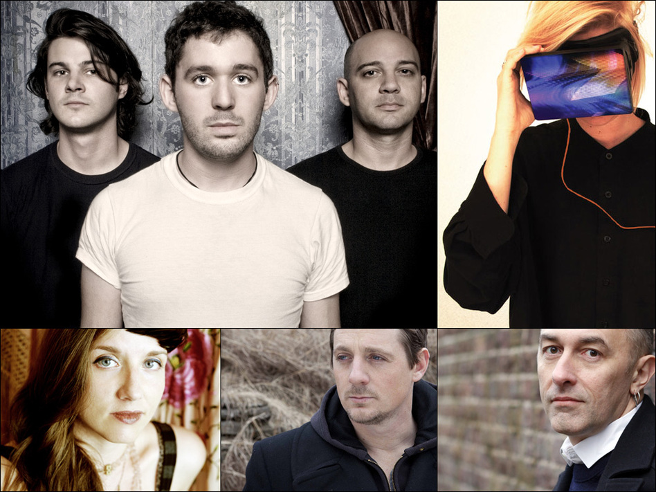 Clockwise from upper left: The Antlers, EMA, Yann Tiersen, Sturgill Simpson, Jolie Holland