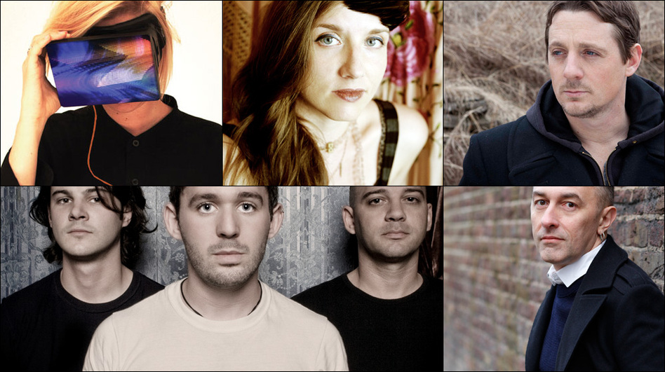 Clockwise from upper left: The Antlers, EMA, Yann Tiersen, Sturgill Simpson, Jolie Holland (Courtesy of the artist)