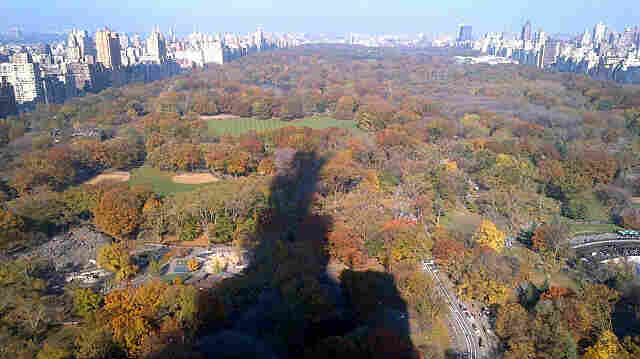The shadow of One57 looms large over Central Park in New York City.