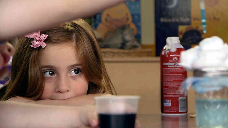 Preschool student Stormy Frazier watches a science experiment unfold in Nikki Jones' classroom in Tulsa, Okla. You can learn more about preschool in Tulsa here.