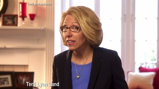 """A scene from Michigan GOP Senate candidate Terri Lynn Land's first TV ad, titled, """"Really?"""""""