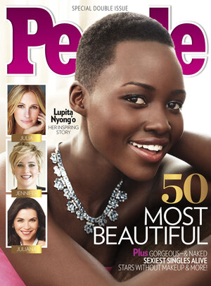 People is calling actress Lupita Nyong'o the most beautiful woman in the world. She's the third black woman to get the magazine's title.