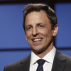 """Seth Meyers hosts the premiere of his talk show, Late Night with Seth Meyers, in February. """"The trickiest part of this job the first week was just figuring out what to do with my hands,"""" says Meyers, who was used to holding a microphone during standup. Remembering that he had pockets was key."""