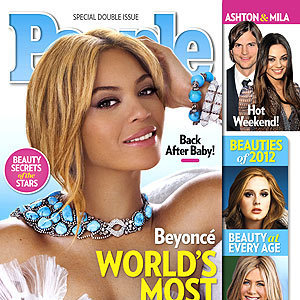 "Beyonce Knowles was chosen as People's ""Most Beautiful Woman"" in 2012."