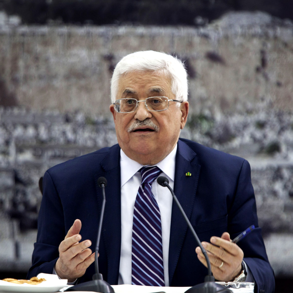 Palestinian Authority President Mahmoud Abbas, shown in the West Bank city of Ramallah on April 1, has little to show for talks with Israel. He would likely get a boost if the Palestinians could form a national unity government.