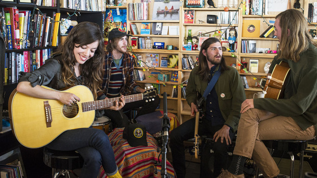 Quilt performs at a Tiny Desk Concert in February 2014. (NPR)