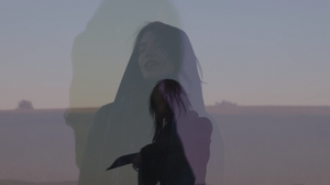 "A scene from the video for Melaena Cadiz's song ""Needles River."""