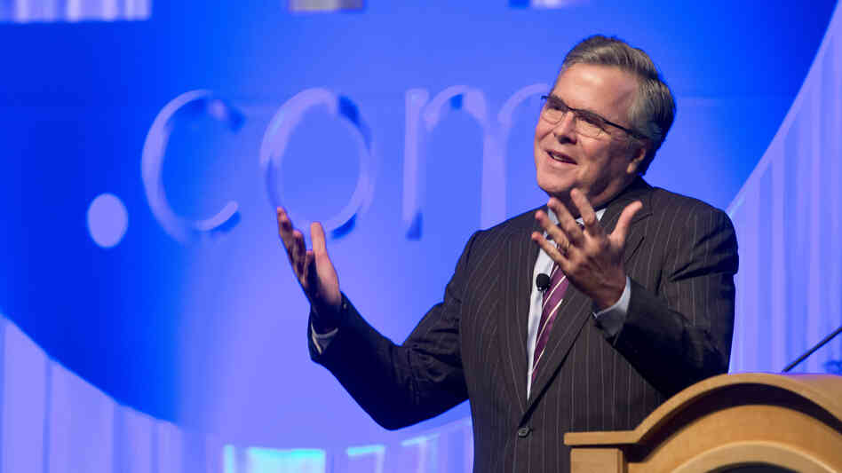 Former Florida Gov. Jeb Bush spoke at a conference in the state in January. He recently hinted — again — at his possible 2016 ambitions.