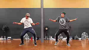 """Keone and Mari Madrid perform their choreography to """"Happy"""" by C2C."""