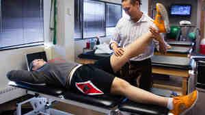 Kelly Koshuta, a basketball star at James Madison High School, Vienna, Va., had surgery to repair an anterior cruciate ligament injured in 2012.