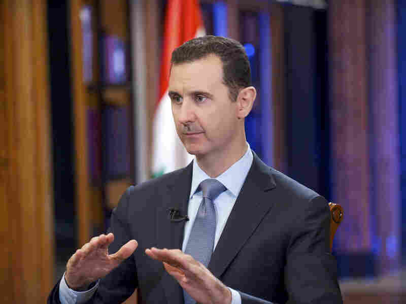 Syrian President Bashar Assad (seen here in September 2013) agreed to relinquish the regime's known chemical weapons and precursor materials after a chemical attack on Ghouta, just outside Damascus, in August 2013 killed hundreds, including children.