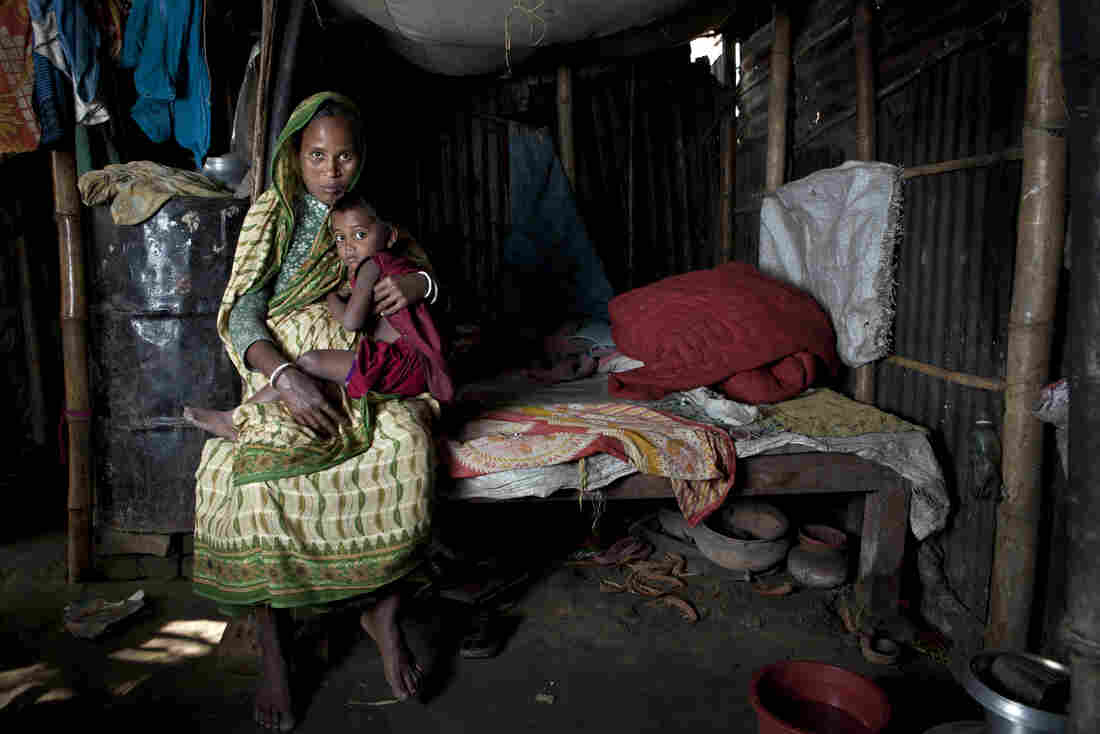 Shefali Rani Das, an expectant mother in Bangladesh, has given birth to six children (including 4-year-old Suborna) at home without a doctor. Only three of her babies have survived.
