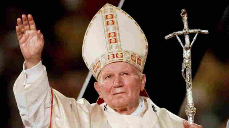 Pope John Paul II at Giants Stadium in New Jersey in 1995. John Paul, the pontiff from 1978-2005, was a favorite among traditionalist. He will be canonized on Sunday along with the late Pope John XXIII, he was popular among liberals.