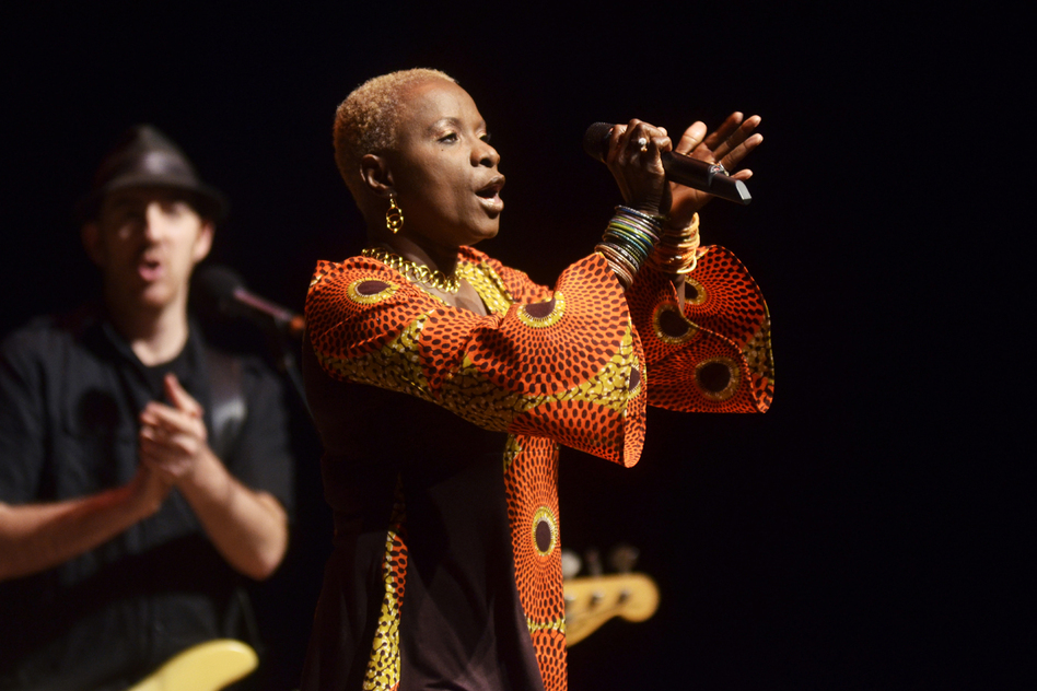 Kidjo has collaborated with Dave Matthews, Carlos Santana, John Legend and more. (Mountain Stage)
