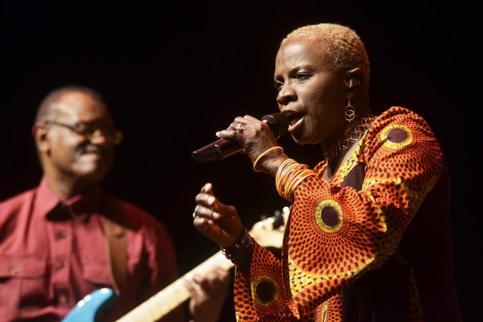 "In today's show, Kidjo pays homage to Miriam Makeba with a cover of the hit song ""Pata Pata.""  (Mountain Stage)"