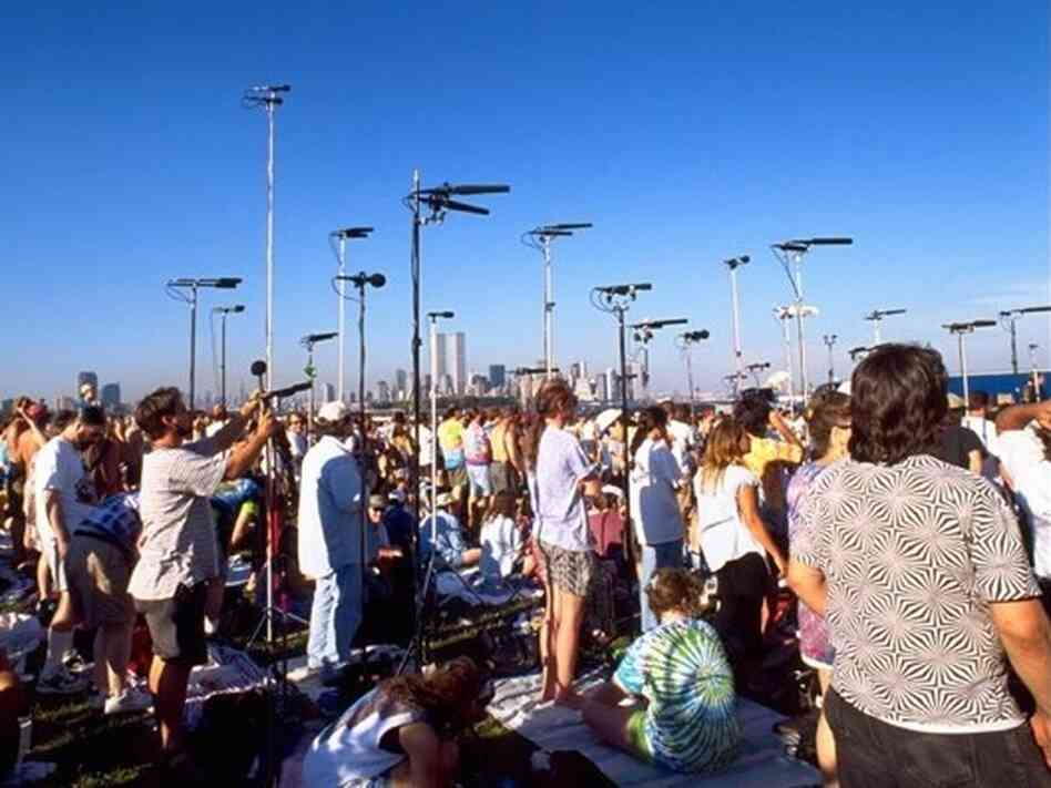 Tapers set up for the Grateful Dead.