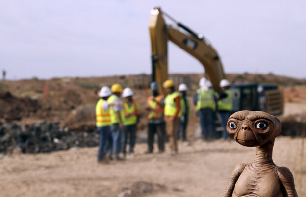 An E.T. doll was held up at the site of an exploratory di
