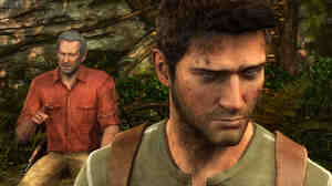 Nathan Drake (foreground) is the lead protagonist of the Uncharted series of games for the Sony PS3. His character is just one in a long line of games where the dominant figure is a white male action hero.