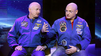 Mark Kelly (left) will stay on Earth while his brother, Scott Kelly, spends a year on the International Space Station. NASA will test how the environments affect them differently.