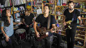 Johnnyswim performs at a Tiny Desk Concert in April 2014.
