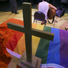 A meeting of an LGBT support group at the United Church of Christ, in Holladay, Utah.