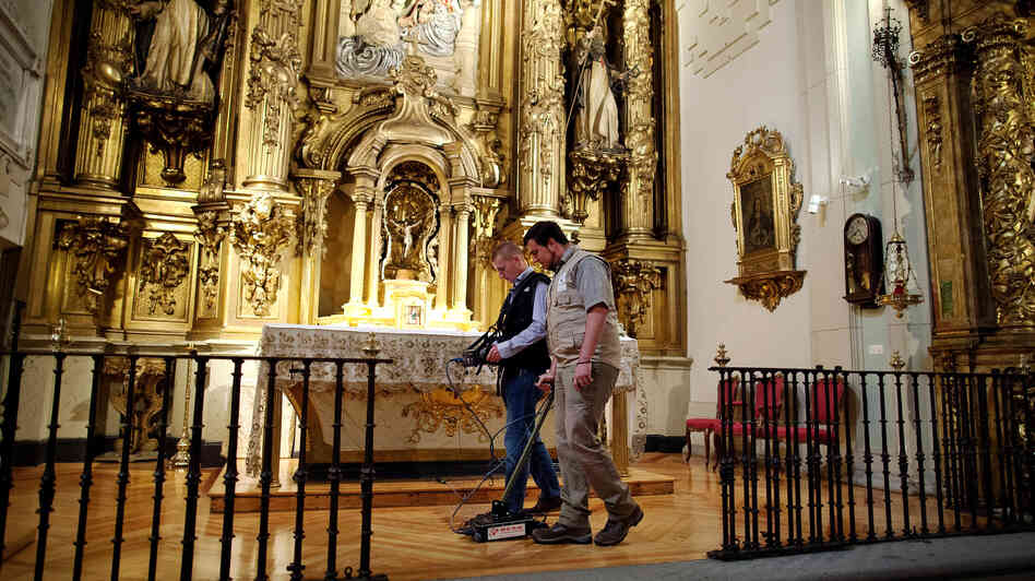 Researchers search for the remains of writer Miguel de Cervantes at Convento de las Trinitarias Descalzas, or Convent of the