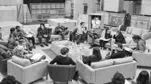 J.J Abrams (top center right) at the cast read-through of Star Wars: Episode VII on Tuesday with Harrison Ford (clockwise from right), Daisy Ridley, Carrie Fisher, Peter Mayhew, Producer Bryan Burk, Lucasfilm President and Producer Kathleen Kennedy, Domhnall Gleeson, Anthony Daniels, Mark Hamill, Andy Serkis, Oscar Isaac, John Boyega, Adam Driver and Writer Lawrence Kasdan.