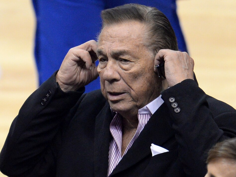 Los Angeles Clippers owner Donald Sterling attends the NBA playoff game between the Clippers and the Golden State Warriors on April 21. (Robyn Beck/AFP/Getty Images)