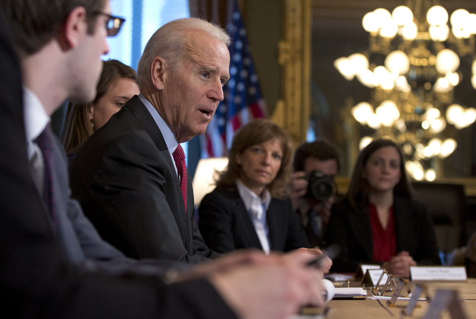 A White House task force on sexual assault at college campuses issued new guidelines Tuesday, asking colleges to survey students about their experiences. The task force was headed by Vice President Biden's office and the White House Council on Women and Girls, which is led by Tina Tchen. (Carolyn Kaster/AP)