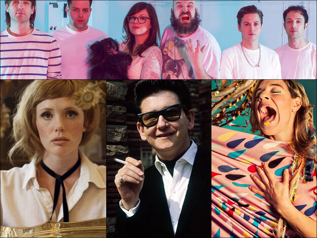 Top row: F---ed Up; Bottom row, left to right: Haley Bonar, Roy Orbison, tUnE-yArDs