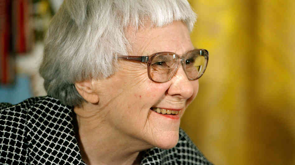 To Kill a Mockingbird author Harper Lee smiles before receiving the Presidential Medal of Freedom in November 2007.