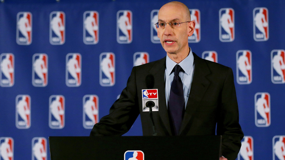 NBA Commissioner Adam Silver announces a lifetime ban and a $2.5 million fine for Los Angeles Clippers owner Donald Sterling Tuesday. Silver said the league verified an audio recording of Sterling making racist remarks. (Getty Images)