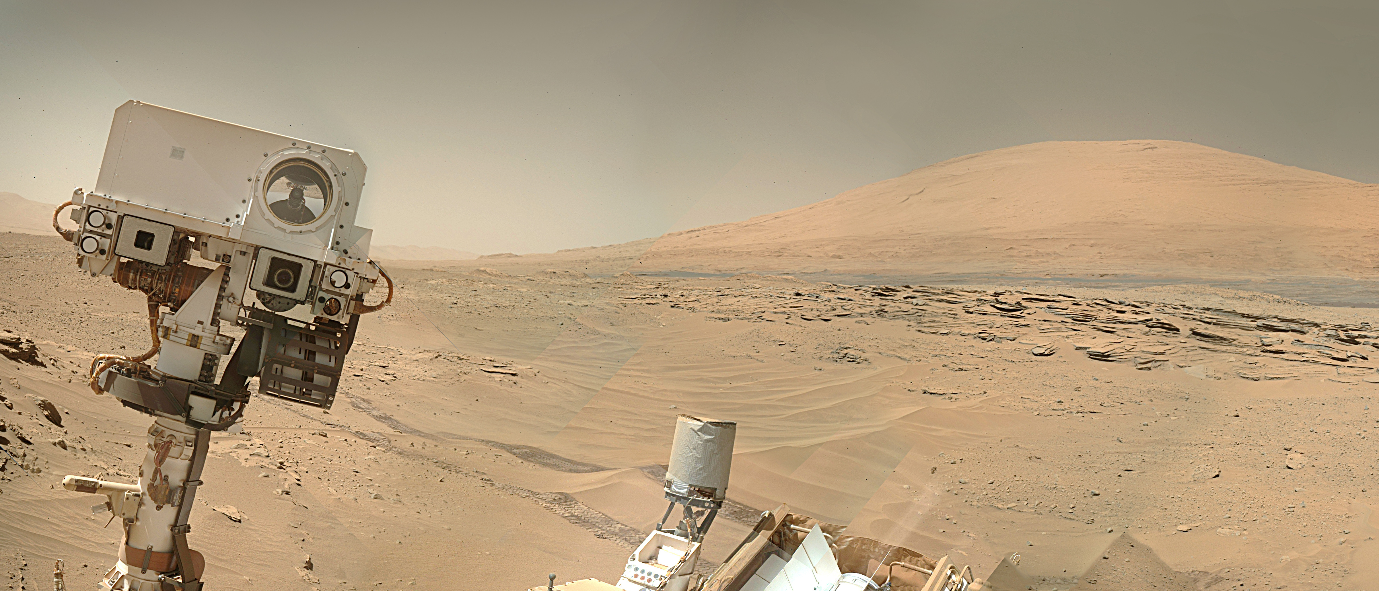 Mars Rover Takes A Break To Drill A Hole