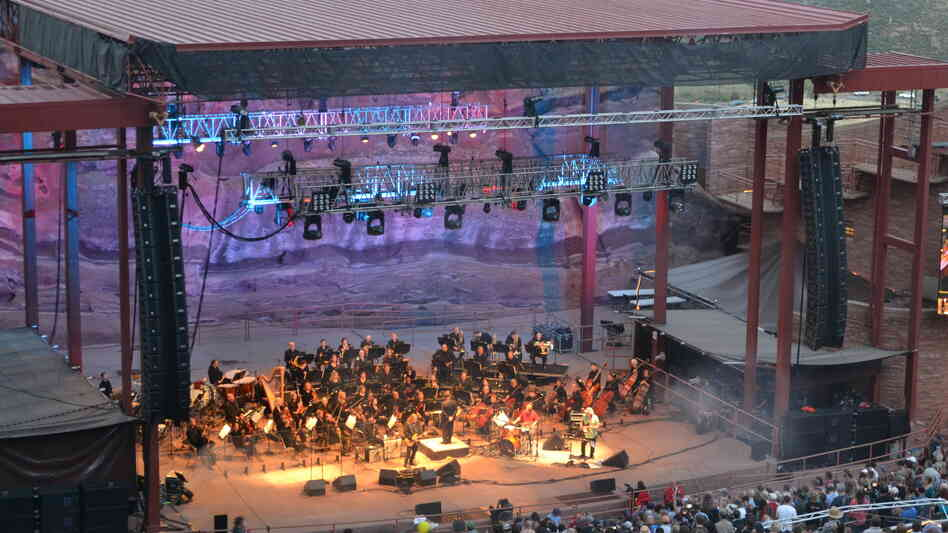 The Colorado Symphony's Jerry Garcia Symphonic Celebration concert at Red Rocks Amphitheatre outside Denver last summer. If you squint, you can see a cloud of something that's probably not pot smoke.