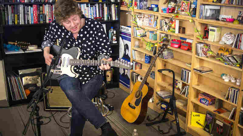 Cian Nugent performs at a Tiny Desk Concert in February 2014.