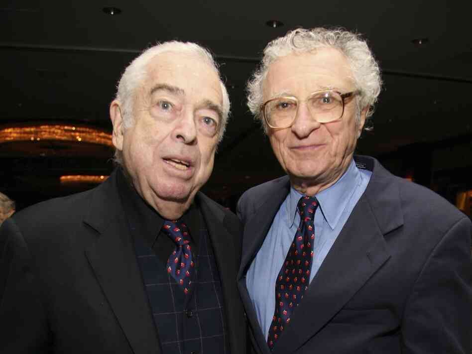 Sheldon Harnick (right) with the late Jerry Bock, his long-time musical collaborator. Together they worked on musicals like Fiddler on the Roof and Fiorello!