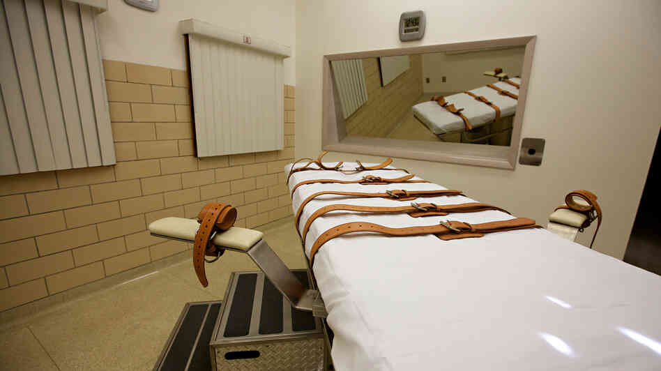 The lethal injection chamber of the South Dakota State Penitentiary.