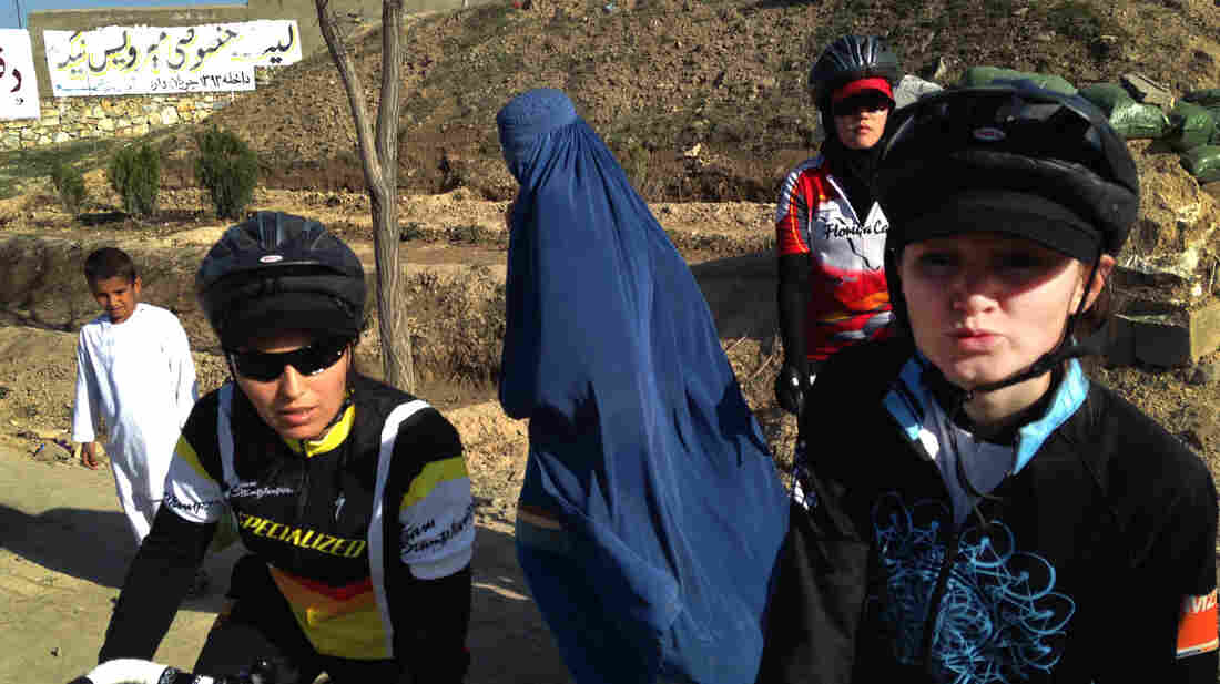 In a country where most women still wear burqas and in many areas aren't allowed to drive or even leave the house without a male relative, female cyclists such as Marjan Sadeqi (left) and Nazifa (who gave only one name) are turning heads.
