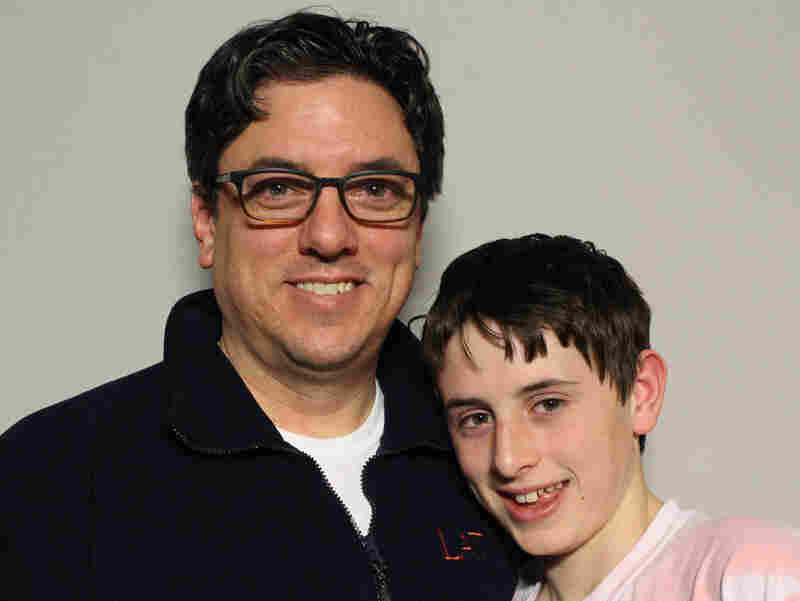 Frank Tempone with his son Jack at StoryCorps in Chicago.