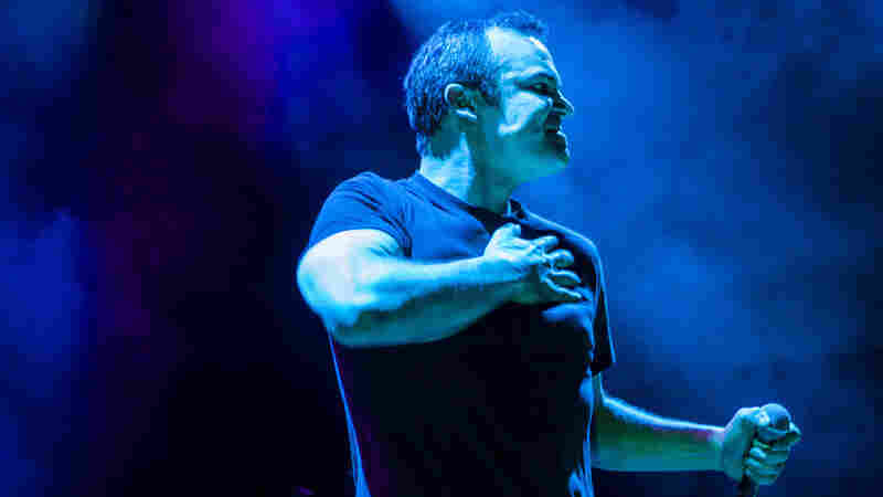Samuel Herring of Future Islands performs live at the 9:30 Club in Washington, D.C.