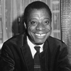 Author James Baldwin poses for a photo during an interview in London.