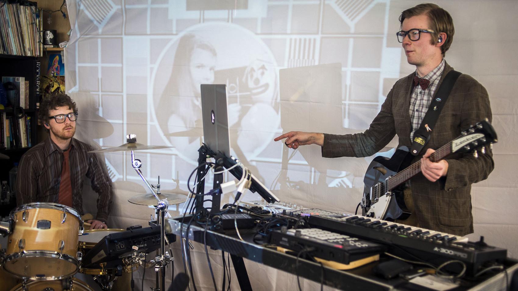 Andrea Echeverri: Public Service Broadcasting: Tiny Desk Concert : NPR