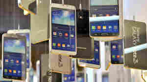 Cardboards of Samsung Electronics' Galaxy Note 3 are seen in a showroom at the company's headquarters in Seoul in November of 2013.