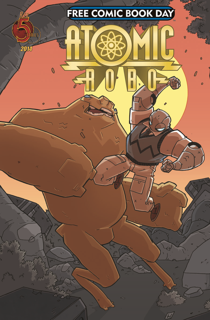 The cover of Atomic Robo.
