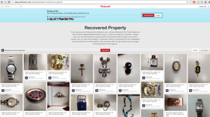 Pinterest users helped police in Redwood City, Calif., reunite stolen property with its owners.